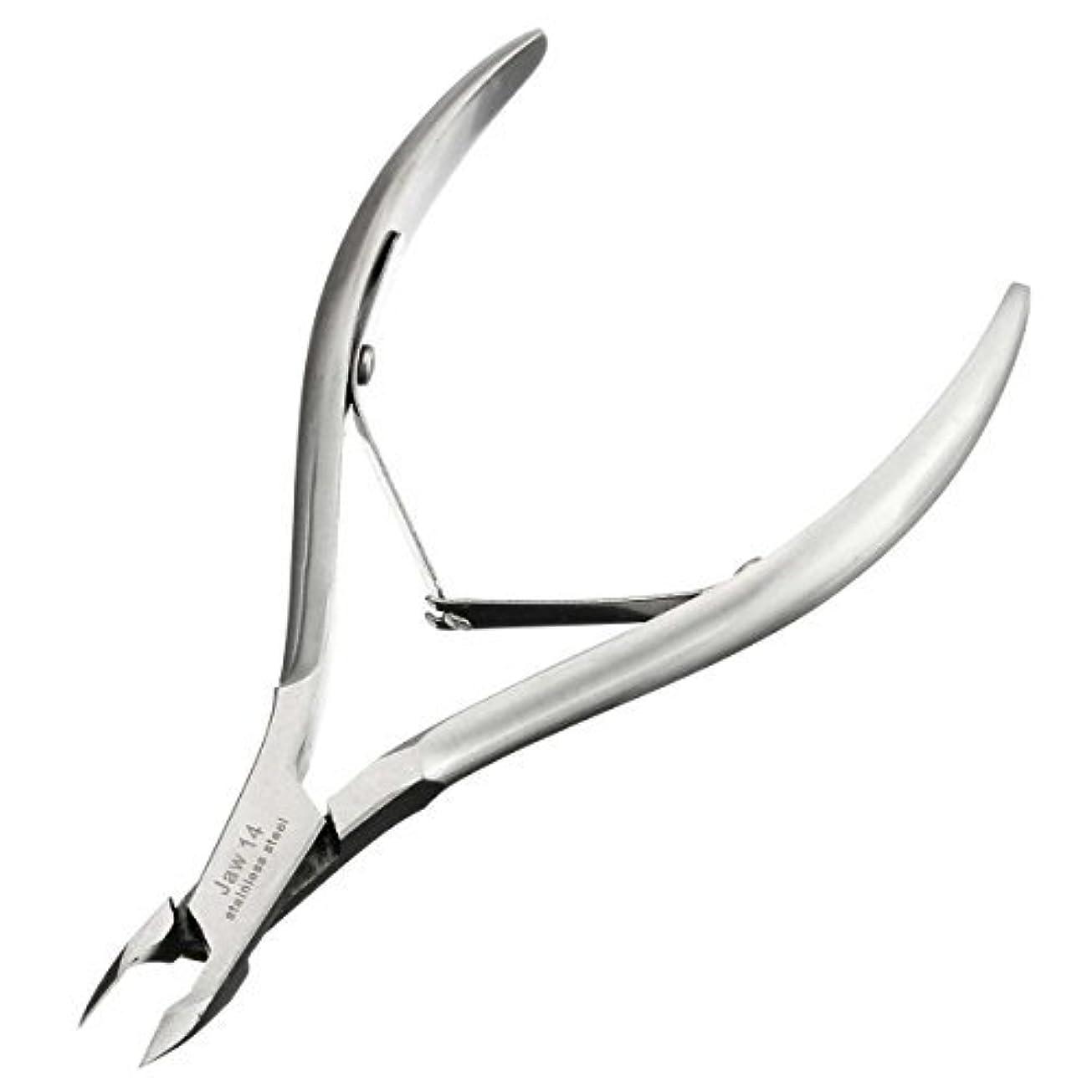 信頼性のある十分にイルキューティクルニッパーD-07C LuckyFine ネールケア  ネイル道具 甘皮切り 爪切り シルバー