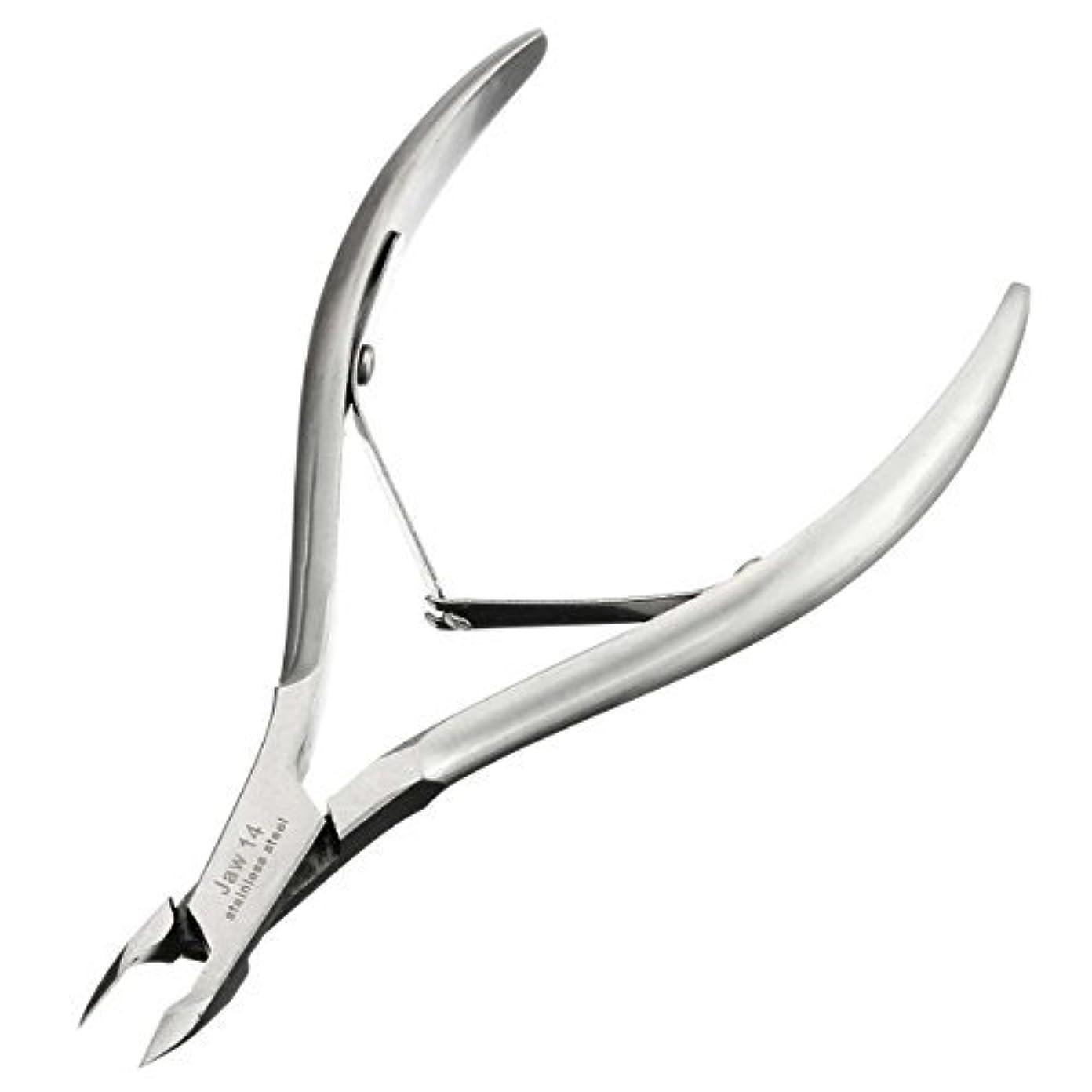 先バナナブルーベルキューティクルニッパーD-07C LuckyFine ネールケア  ネイル道具 甘皮切り 爪切り シルバー