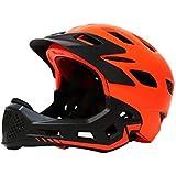 幼児用ヘルメット スケートボードのバイクBMXとスタントスクーターに最適な子供向けアーバンスケートヘルメットオレンジピンクイエローブルー年齢ガイド3-8歳男の子/女の子(56-62cm) (Color : Orange)