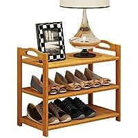 靴ラックシンプルソリッドウッド家庭用マルチレイヤーエコノミータイプバンブースリッパスリーレイヤーソーシューズラック(靴ラックのみ含む) (サイズ さいず : 50)