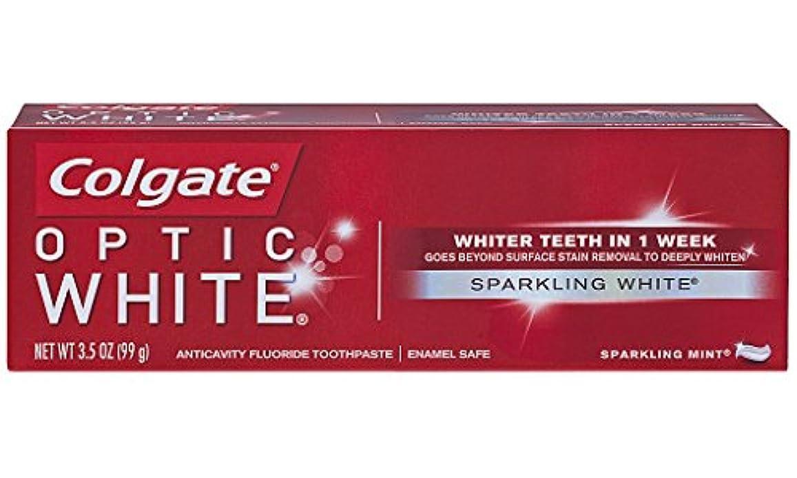 挑発する同化する交渉するColgate オプティックホワイトハミガキ、スパークリングミント、3.5オンス(6パック)
