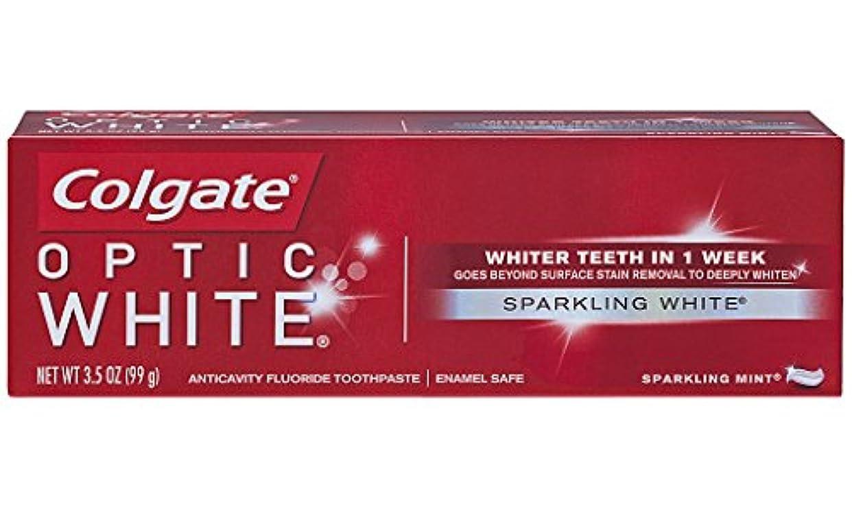 生む味わう動揺させるColgate オプティックホワイトハミガキ、スパークリングミント、3.5オンス(6パック)