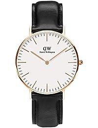 腕時計 36MM レディース メンズ うで時計 クラシック シェフィールド DW00100036 ホワイト文字盤 レザーベルト【並行輸入品】