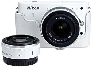 【まとめ買いでお得】Nikon ミラーレス一眼カメラ Nikon1 J2+10mm/2.8ダブルレンズセットA N1J210/2.8WLKA