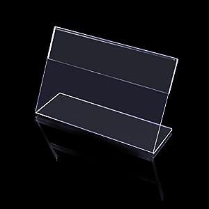 タカ印 ポップ スタンド カード立 L型 34-3220 透明 58×86mm表示 10個