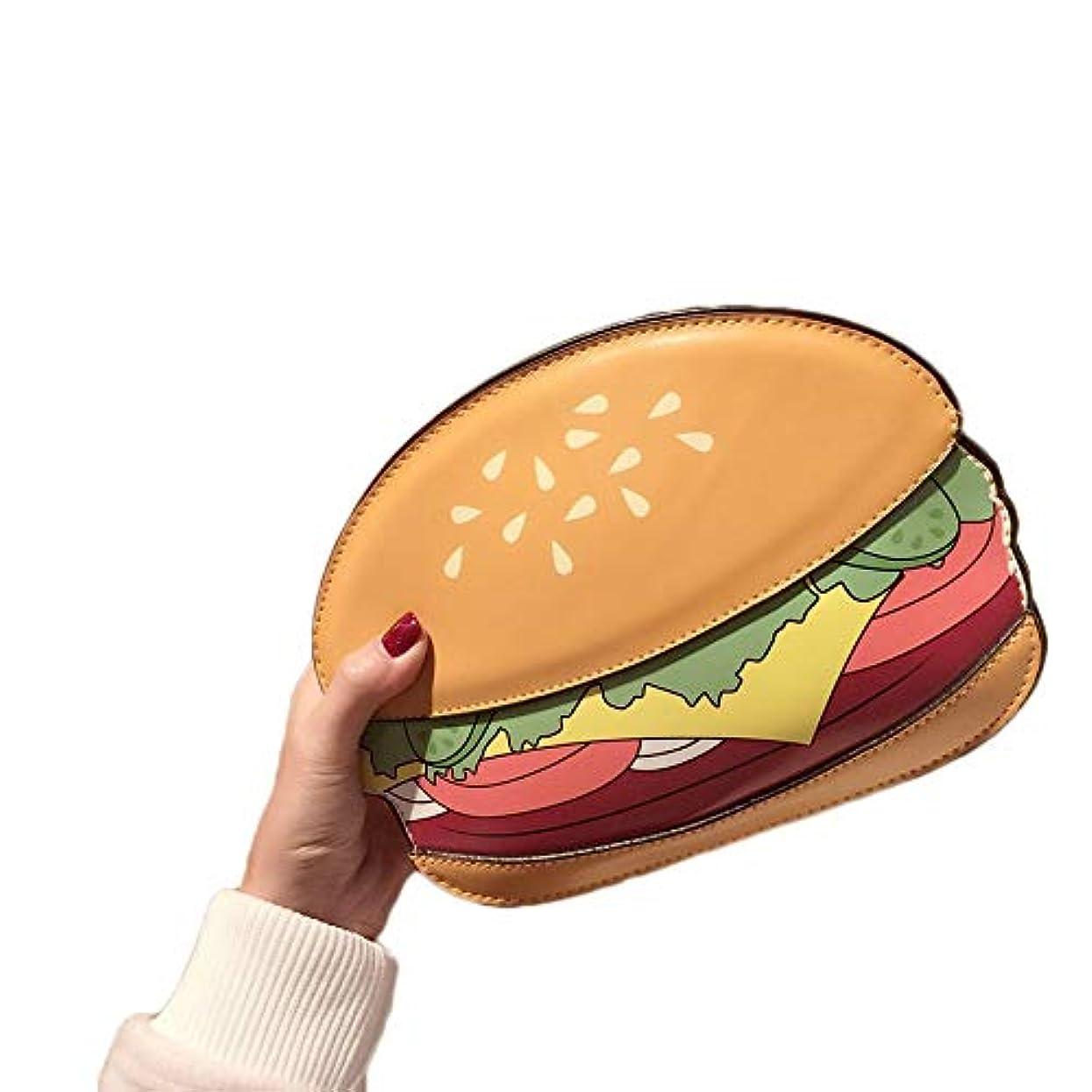 図書館説得嘆く女性用バッグNew Food Series Hamburger Fries Popcorn Shoulder Diagonal Chain Bag-Multicolor-Burger