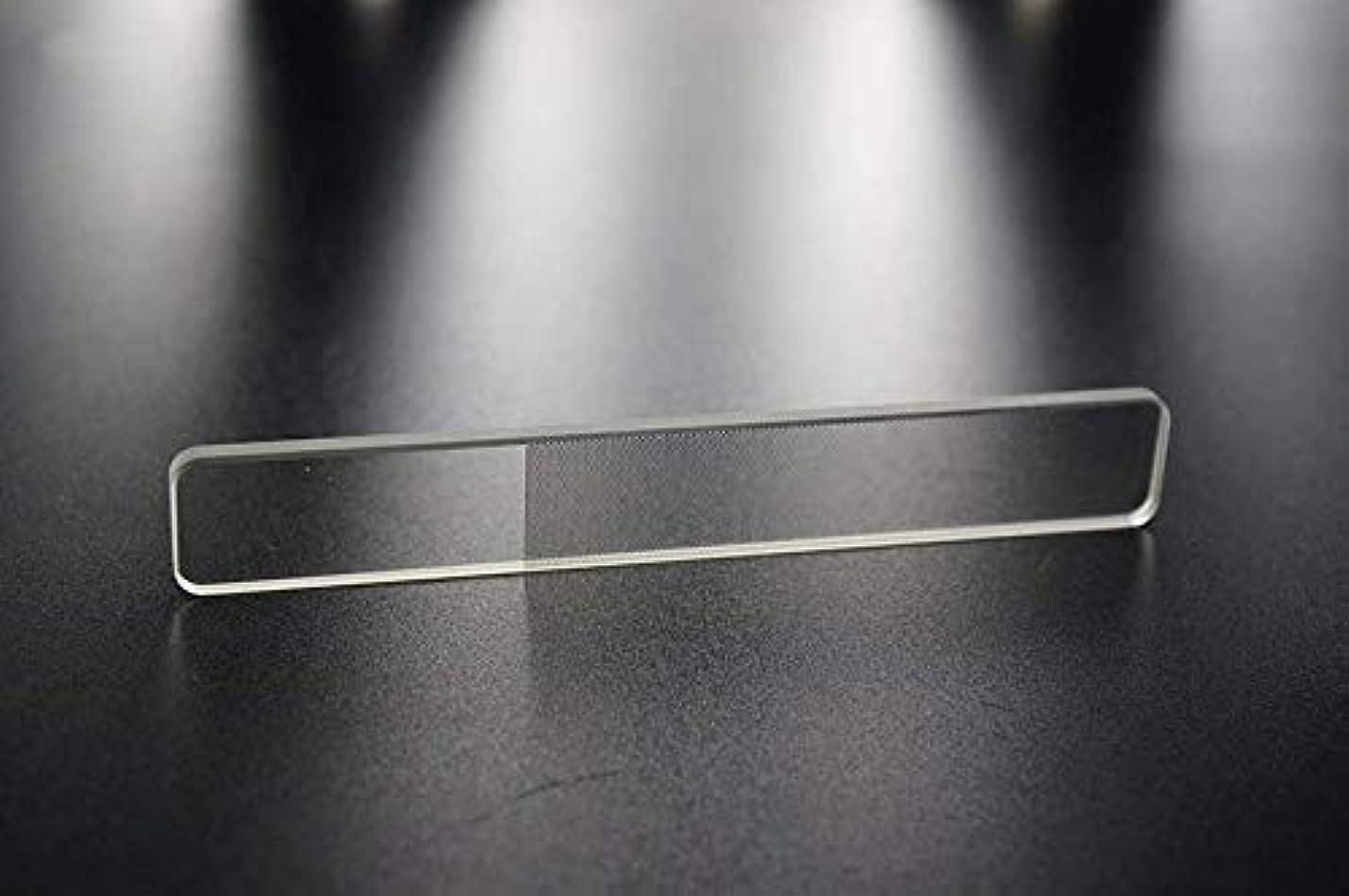 キャラバンフリンジまっすぐ爪やすり 爪磨き ガラス製 ネイルシャイナ つめみがき ネイルケア ナノ技術が生んだ全く新しい つめやすり (爪)