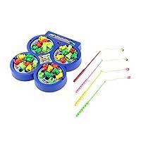 【ノーブランド品】釣りゲーム ボード 電動 回転 磁気 魚 子供 音楽 教育玩具 贈り物