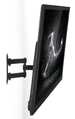 mount-it 。フルモーションテレビ壁マウントコーナーブラケットVESA 400x 400互換、延長アーム関節式、角度調整、Fits 32, 37, 40, 42, 47, 50インチTV、66lbs容量ブラック