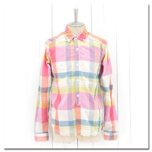 (スペルバウンド) SPELL BOUND メンズ マドラスチェックBDシャツ[46-047X] サイズ2 62 ライトピンク