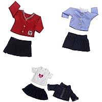 Dovewill  18インチアメリカンガールドール対応 素敵 ジーンズ スカート 衣装 人形 アクセサリー 3セット入り