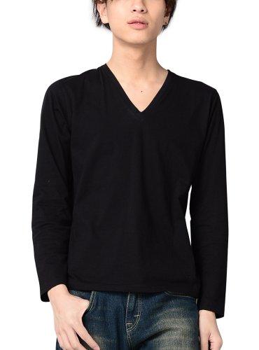 綿100% カットソー メンズ Vネック Uネック Tシャツ 605225 ベストマート