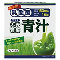 【5個セット】ユーワ 乳酸菌+大麦若葉青汁 3g×12包×5個セット