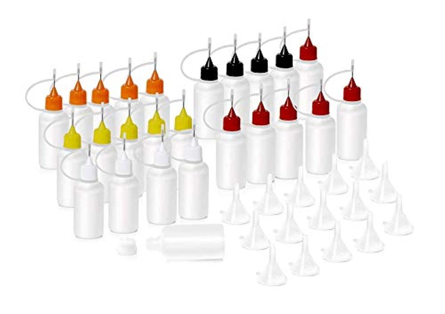 協力する誕生部分的にHNYYZL 針付き スポイトボトル プラスチック製 電子タバコ 詰め替え容器 液体 貯蔵用 ニードルチップ付 25书漏斗15必备空瓶用于电子烟液体注射