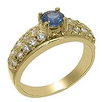 英国製(イギリス製) K9 イエローゴールド 天然 サファイヤキュービックジルコニア レディース リング 指輪 各種 サイズ あり