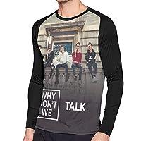 Why Don't We トレーニングウエア 長袖 Tシャツ メンズ プリント ファション