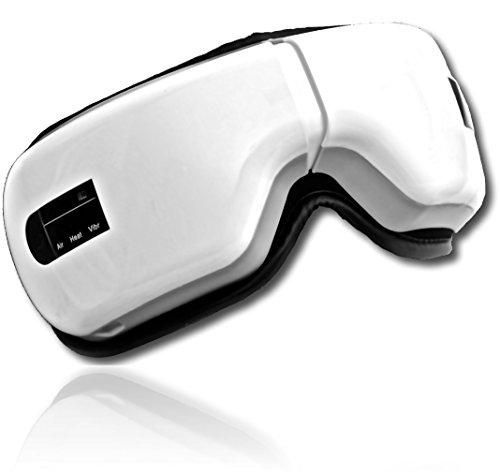 [自宅スパ] 目元マッサージャー めもとエステ 眼精疲労 疲れ目 アイマッサージャー ホットアイマスク マッサージ USB充電式 温め LIworld TAK-1 ホワイト 20.5cm × 15cm × 9.7cm