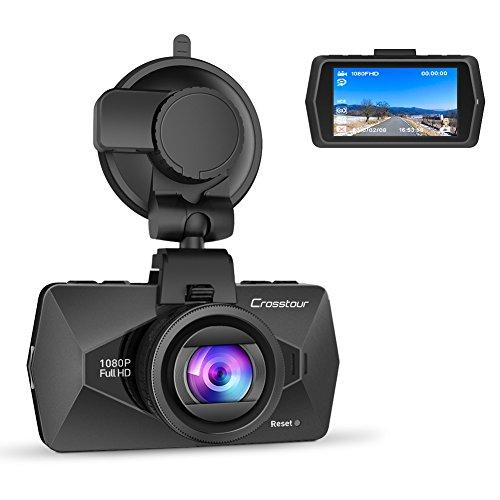 Crosstour ドライブレコーダー 1080P Full HD 小型ドラレコ SONY センサー 1200 万画素 2.7インチ液晶画面 車載 カメラ 動き検知 常時録画 HDR 衝撃録画 高速起動 1年保証