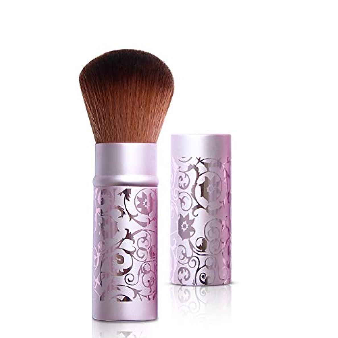 障害将来の湿原ルージュブラシセット化粧ブラシ化粧ブラシルースパウダーブラシラージパウダーブラシシャドーブラシブラッシュブラシテレスコピックポータブル蓋付き,Purple