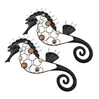 シーホースウォールアート 海馬 ゲッコ 金属鉄 ホーム お店 芸術 工芸品 インスピレーション デコレーション