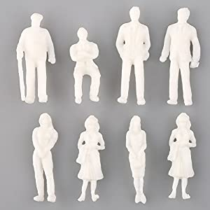VERY100 模型・人形モデル・人形ランダム 100体セット 1/200用 未塗装 白模型 DIY・建築模型・情景コレクション・ジオラマ・教育・写真に