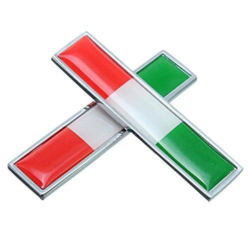 2xカースタイリング金属ラベルバッジエンブレムデカールカバー車のステッカーフラグのイタリア用ベンツ/vwフィアット/マセラティ/ランチア