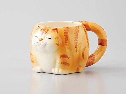 猫 マグカップ 黄トラ 瀬戸焼