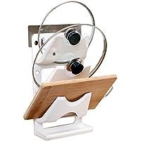 まな板 スタンド 鍋蓋 立て コンパクト 収納 ホルダー キッチン ツールスタンド 貼り付け 移動可 3段調整