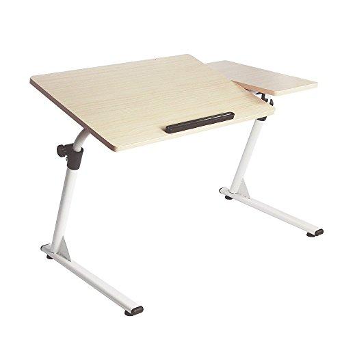 Soges 高さ調節 昇降式サイドテーブル (ナチュラル5)