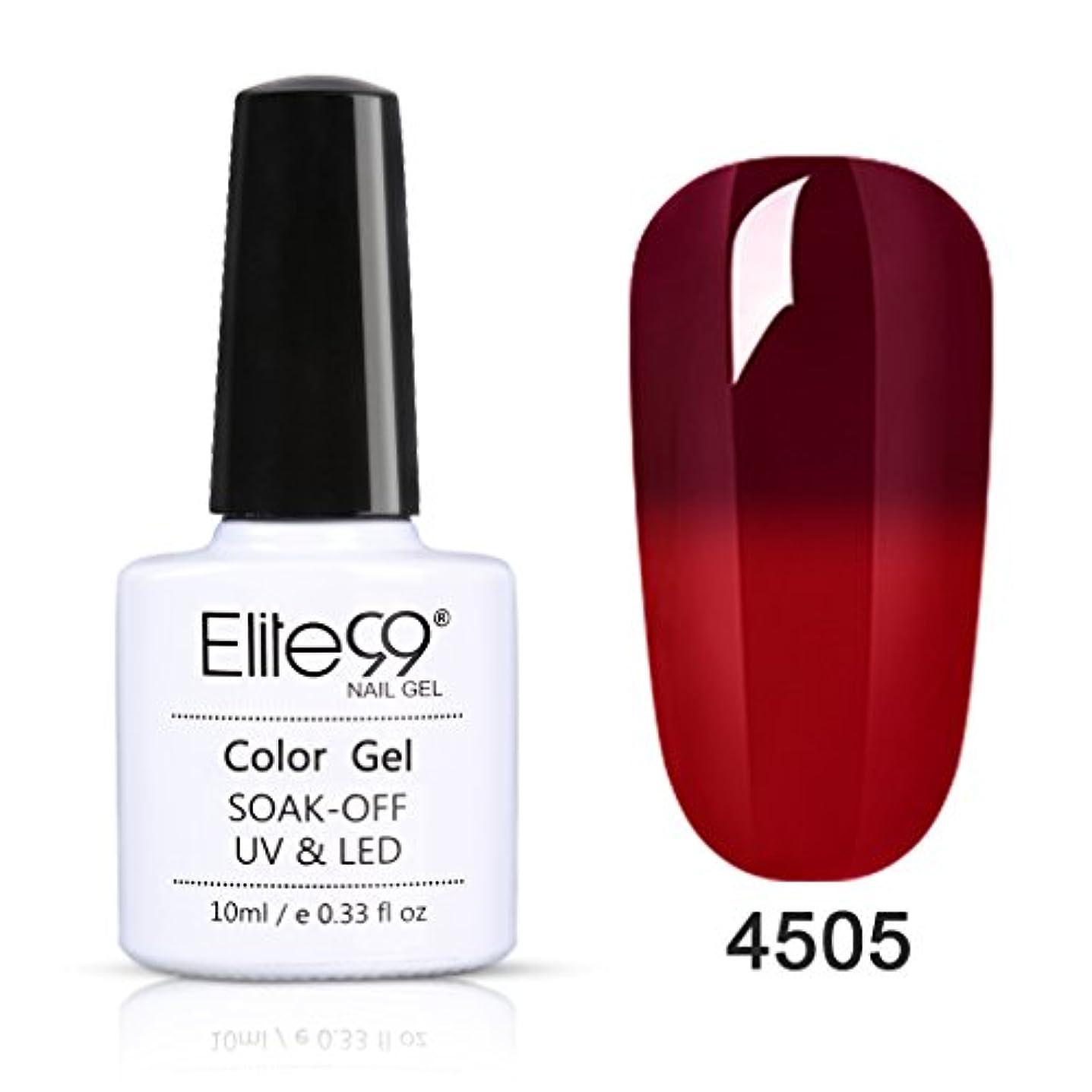 まろやかな伝導率襲撃ジェルネイル ワインレッド カメレオンカラージェル 温度により色が変化 UV/LED対応 10ML 【全6色選択可】