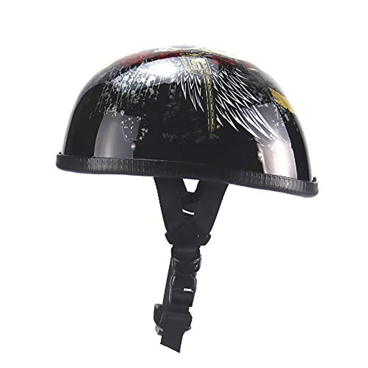 閉じるを通して市民TOMSSL高品質 アダルトヘルメットクリエイティブパーソナリティヘルメットスクープヘルメットレトロハーフヘルメットオートバイヘルメット電気自動車用ヘルメット