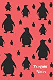 Penguin Notes: Cute Melon and Black Penguin Pattern 6