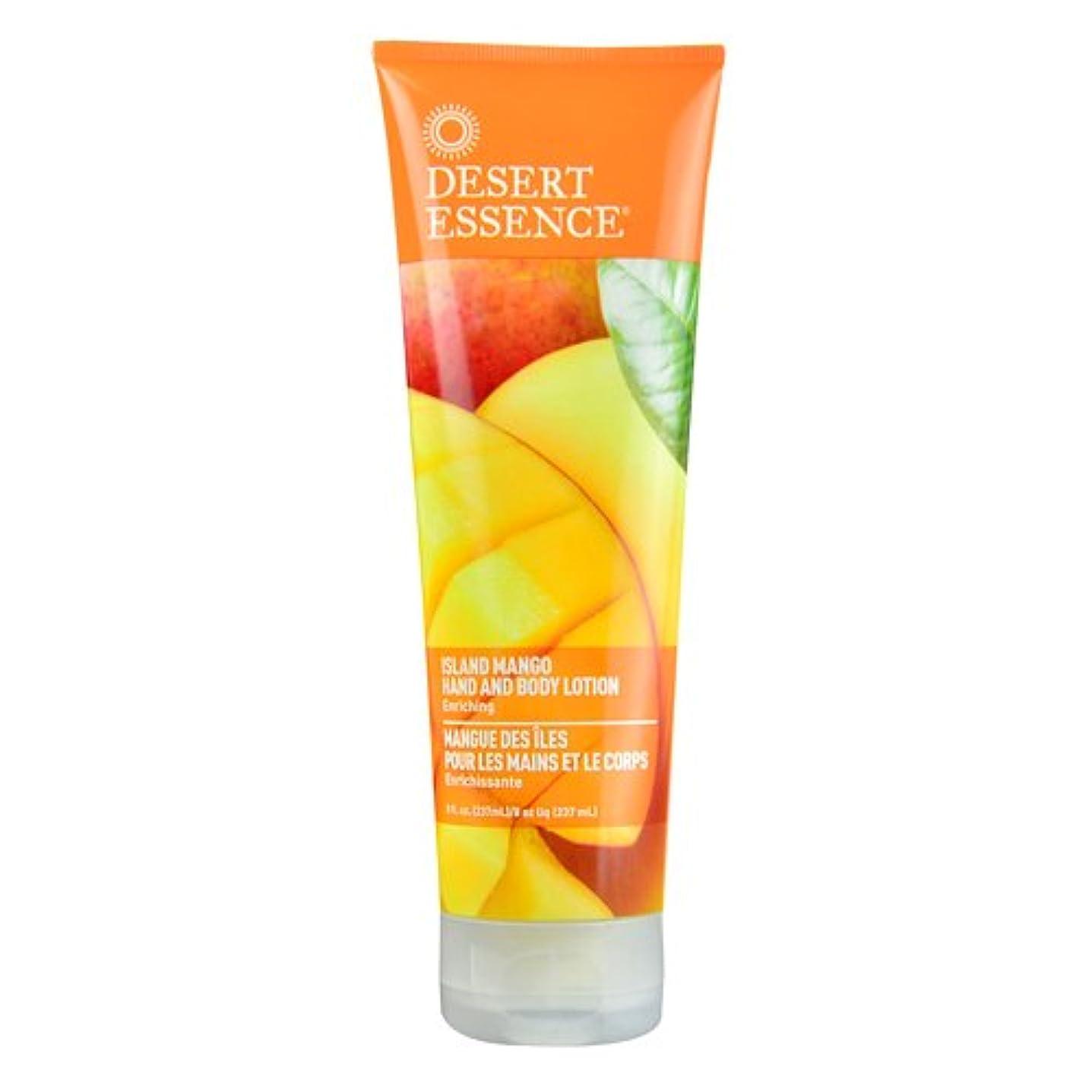 蒸発レースオリエントDesert Essence, Hand and Body Lotion, Island Mango, 8 fl oz (237 ml)