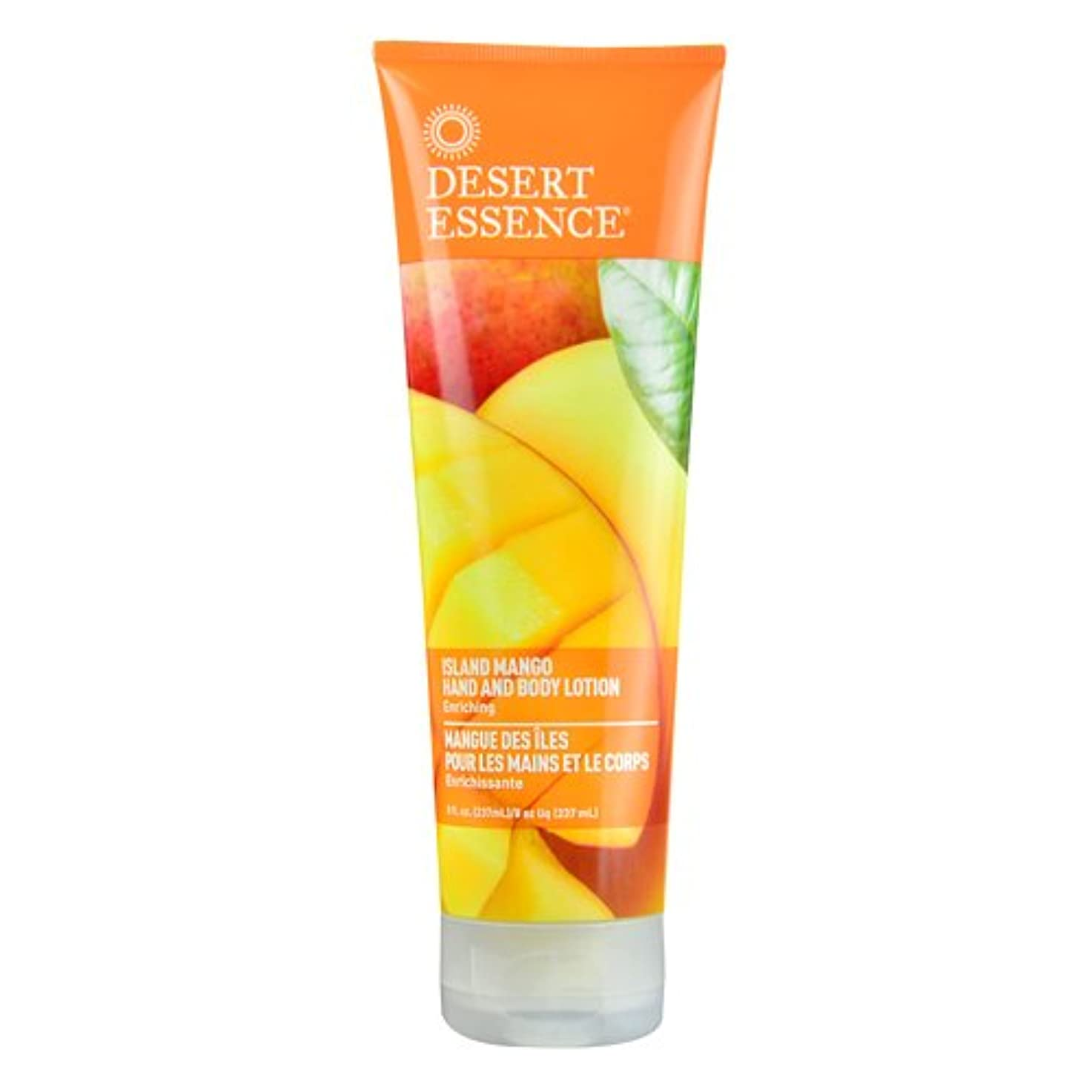 鬼ごっこ窓定期的にDesert Essence, Hand and Body Lotion, Island Mango, 8 fl oz (237 ml)