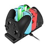 ジョイコン Joy-Con Pro コントローラー 充電 スタンド Nintendo Switch スイッチ プローコントローラー 充電ホルダー チャージャー 充電指示LED付き