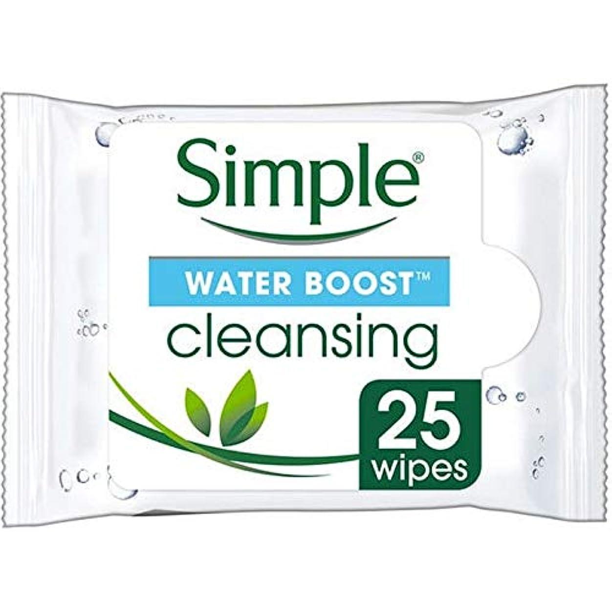 混合した初期の初期の[Simple ] シンプルな水ブースト面はX25をワイプ - Simple Water Boost Face Wipes X25 [並行輸入品]