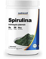 Nutricost スピルリナパウダー8オンス(0.5ポンド) (227 G)