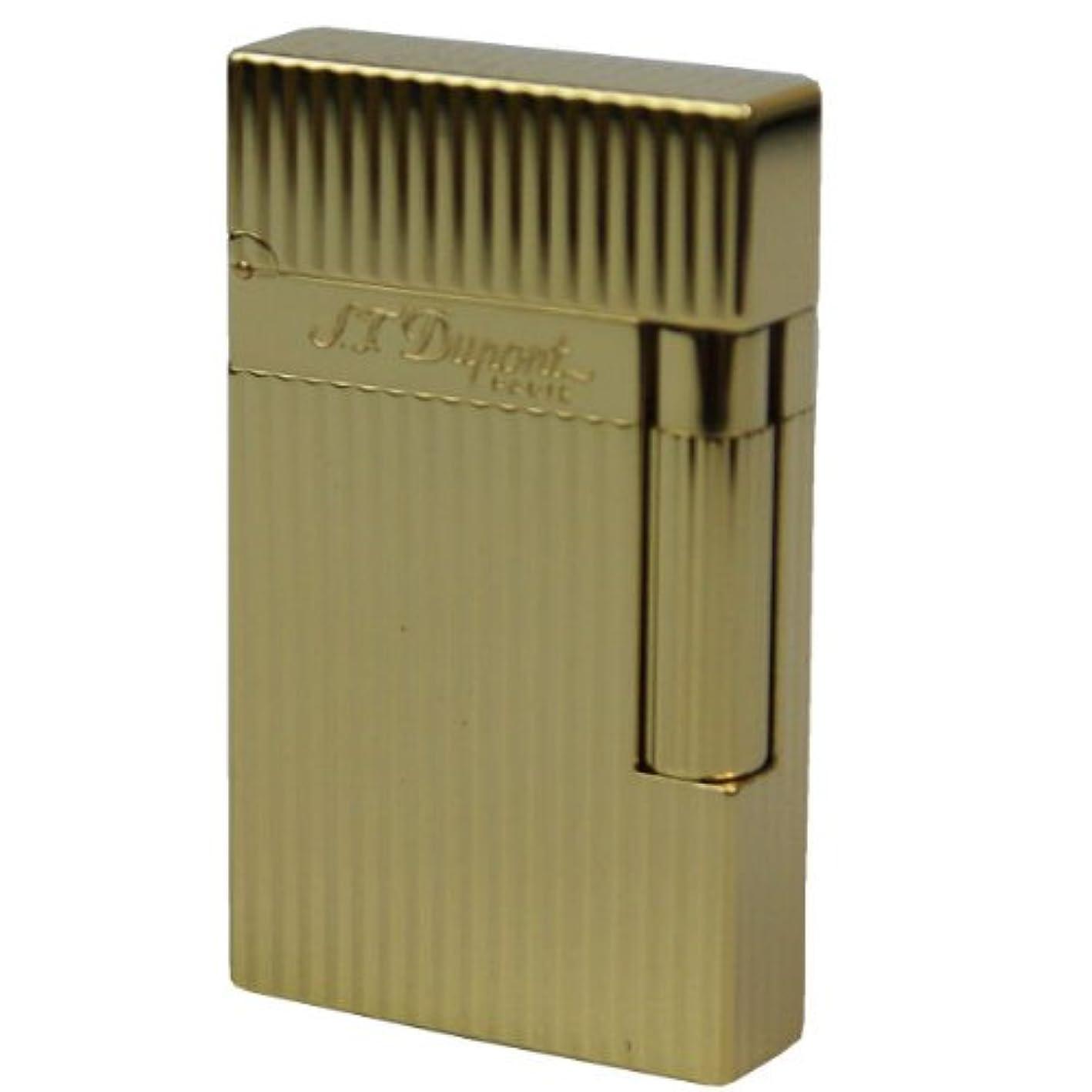 遠征適切な騒々しいデュポン S.T.Dupont ガスライター ライン2 イエローゴールド フィニッシュ DP-16827