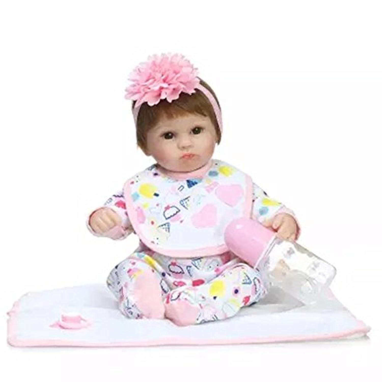 Baby Dollベビー人形17インチ加重Baby Eyes Openピンクヘッドドレス