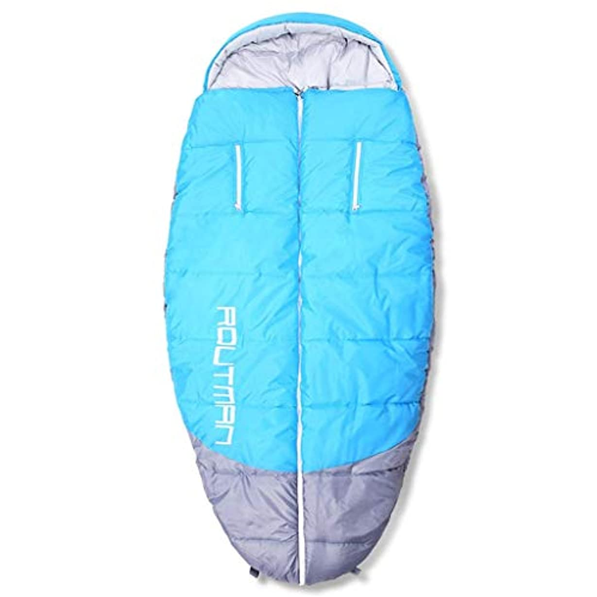 実装する大洪水キャプチャー寝袋大人の屋内特大屋外のデブ男寝袋に手を差し伸べる、ブルー、200×100 cm