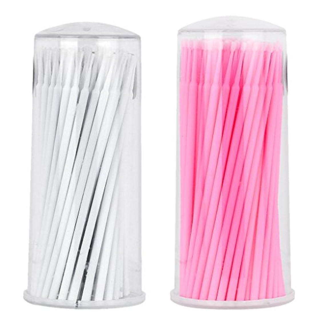 約200本 マイクロブラシ 極細綿棒 まつげブラシ スワブ 使い捨て アプリケータ
