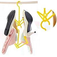 靴オーガナイザースペースセーバー、1個inkachプラスチック靴服ソックスShorts乾燥ラックハンガー One Size HM-1