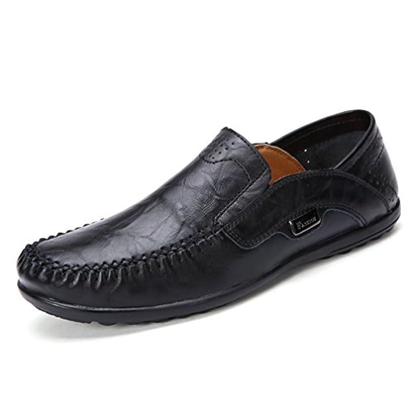 ブラウン水星商業の[XINXIKEJI]メンズ ドライビングシューズ モカシン スリッポン かかとが踏める 大きいサイズ 23.5-28.5cm 通気性 蒸れない 歩きやすい 耐磨耗性 軽量 心地良い ローファー コンフォート 運転用 紳士靴