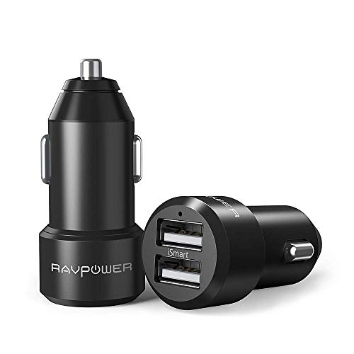 RAVPower カーチャージャー 2Pack (2ポート 24W/4.8A 急速充電) iPhone/iPad/Android/IQOS 等対応 RP-VC006(ブラック)