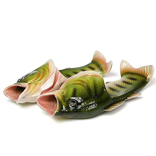 「夏の日」面白い スリッパ ー 魚型 サンダル メンズ サンダル レディース 男女兼用 軽量 通気性 歩きやすい シューズ (26cm-26.5cm)