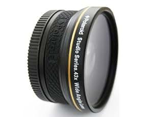 ポラロイド スタジオ シリーズ 52mm .43X 高解像 広角レンズ マクロ装備付 レンズポーチ & キャップカバー (込み)