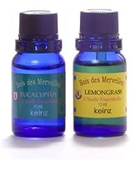keinzエッセンシャルオイル「ユーカリプタス10ml&レモングラス10ml」2種1セット ケインズ正規品 製造国アメリカ 完全無添加 人工香料は使っていません。