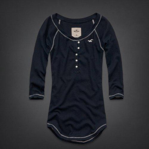 Hollister Co.(ホリスター) ロンT Tシャツ レディース 長袖Tシャツ [ネイビー] XS [並行輸入品]