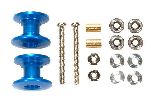 タミヤ ミニ四駆限定シリーズ 軽量2段アルミローラーセット (13-12mm) (ブルー) 94979