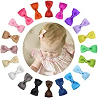 "Shemay Tiny 2"" Hair Bows Fully Covered Hair Clips for Baby Girls Toddlers Infants"